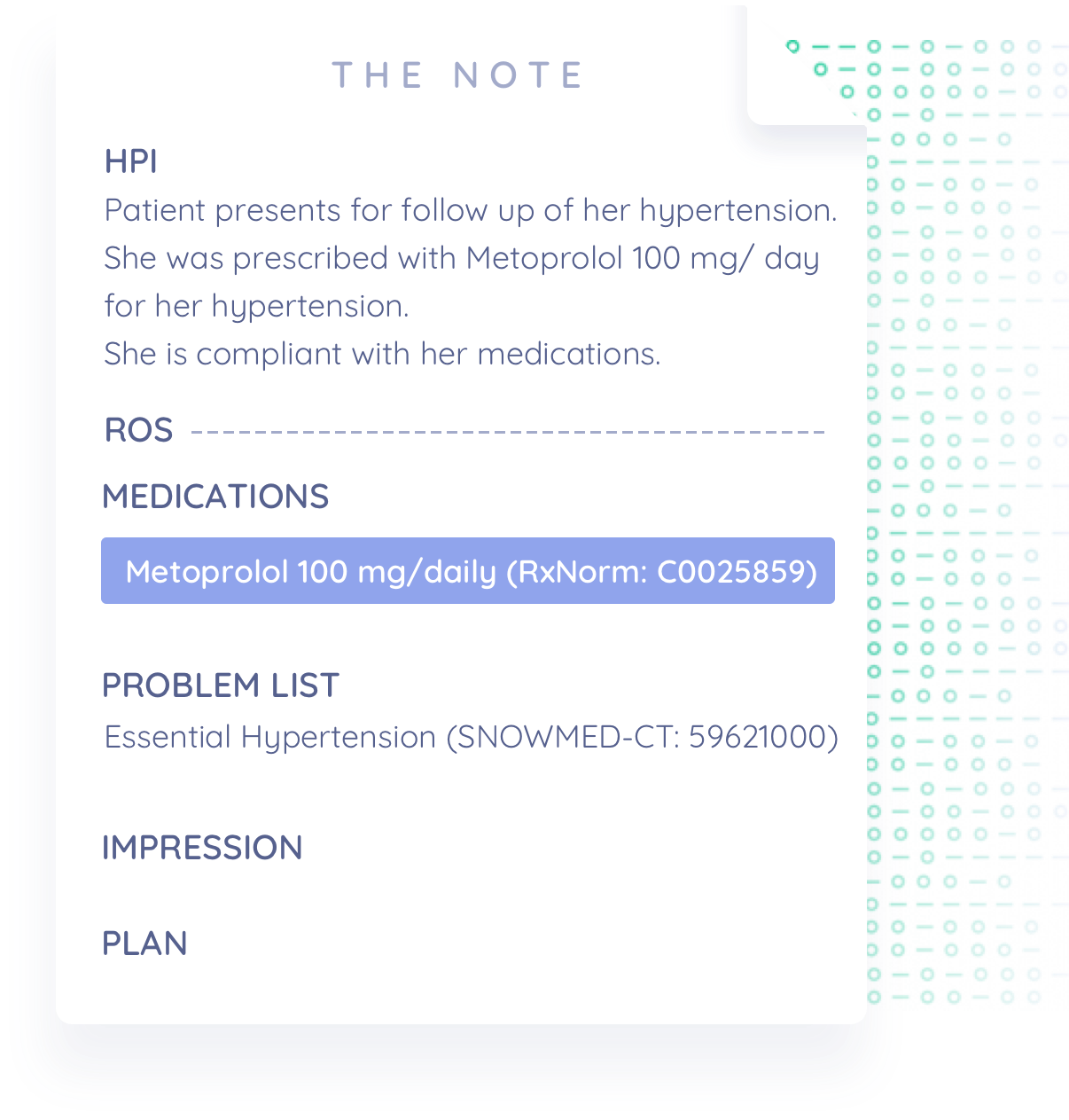 GENERATE THE SOAP NOTE